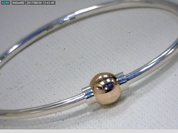 Rose Gold Single Ball Bracelet by Cape Cod Collection